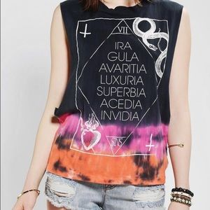 Urban Outfitters Seven Deadly Sins Muscle Tee